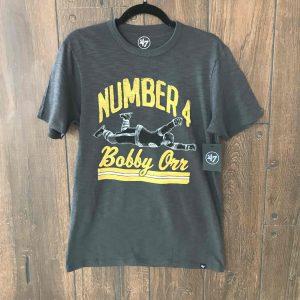 Number 4 Bobby Orr The Goal T-shirt